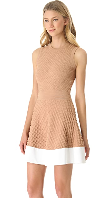 No. 21 Scalloped Knit Dress with Contrast Hem