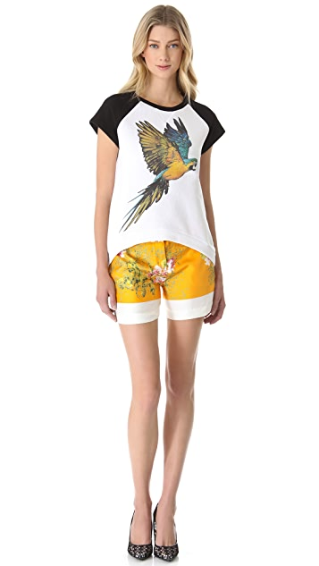 No. 21 Parrot Sweatshirt with Short Sleeves