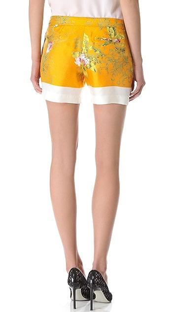 No. 21 Floral Silk Shorts