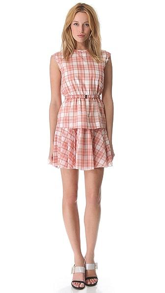 No. 21 Pink Plaid Dress with Belt