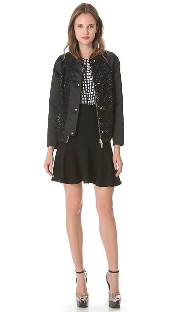 No. 21 Black Flounce Bottom Skirt