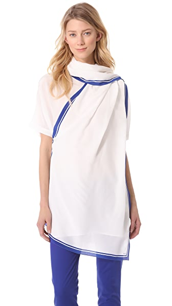 No. 21 White Scarf Tunic Top