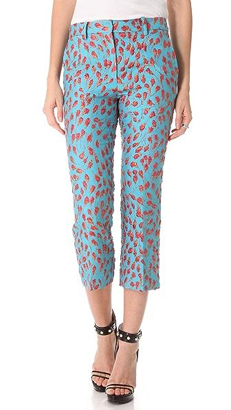 No. 21 Jacquard Cropped Pants