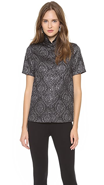 No. 21 Jacquard Short Sleeve Shirt