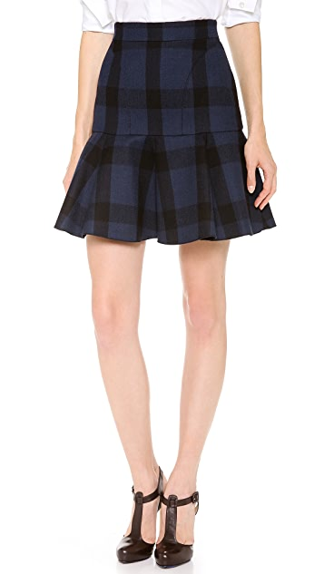 No. 21 Check Short Flounce Skirt