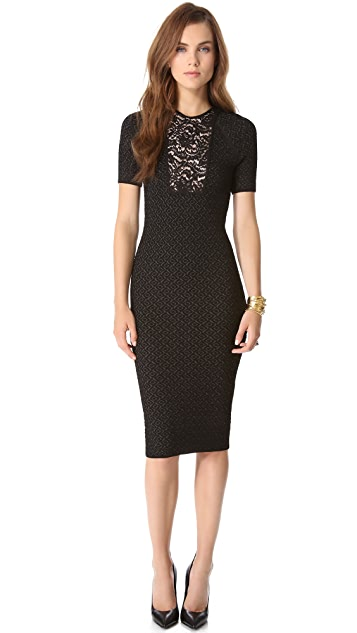 No. 21 Lace Stitch Knit Dress
