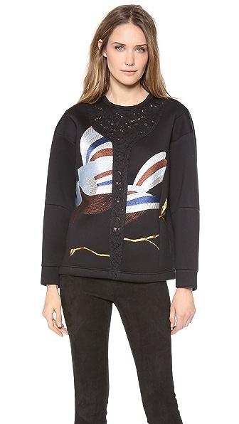 No. 21 Birds Neoprene Sweater