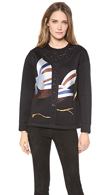 No. 21 Birds Neoprene Sweater