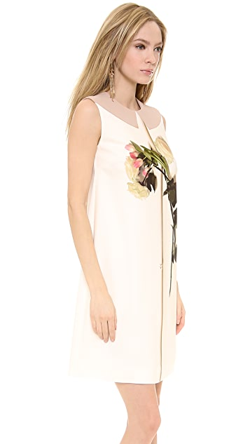 No. 21 Sleeveless Dress with Flower Detail