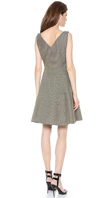 No. 21 Gingham Full Skirt Dress