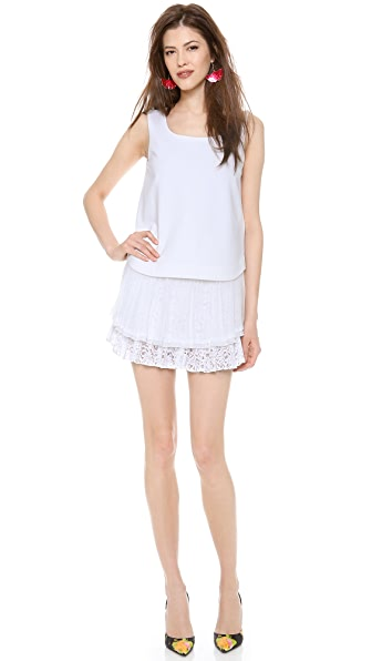 No. 21 Mini Dress with Ruffle Hem