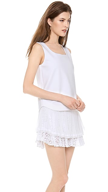 No. 21 Mini Dress with Ruffle Hem