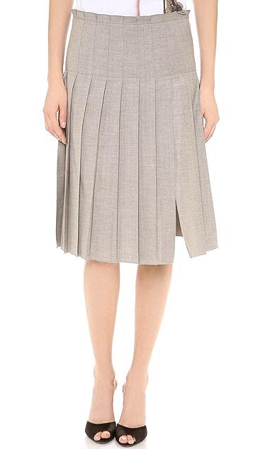 No. 21 Pleated Grey Skirt