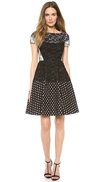 No. 21 Eyelet Black Dress