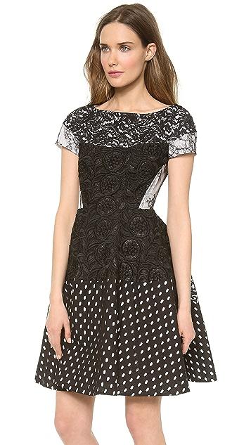 No. 21 Eyelet Black Dress