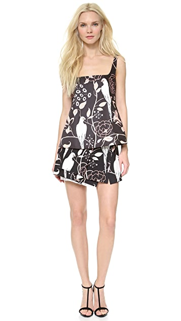 No. 21 Printed Brown Skirt