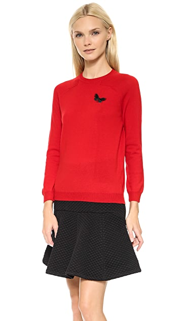 No. 21 Butterfly Applique Sweater