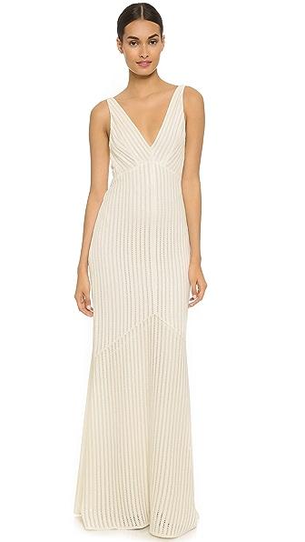 Narciso Rodriguez Вечернее платье с блестками и V-образным вырезом