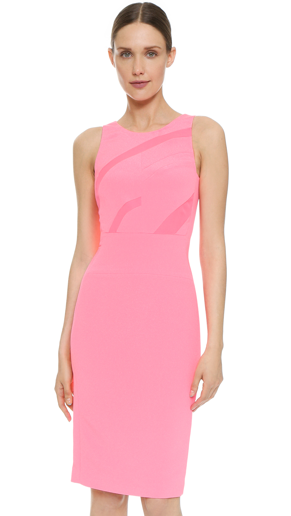 Narciso Rodriguez Neon Inset Sheath Dress