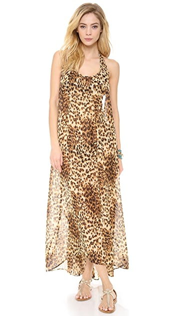 9seed Biarritz Halter Maxi Cover Up Dress