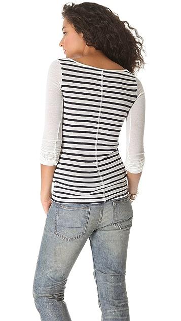 NSF Carly Long Sleeve Stripe Top