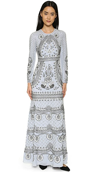 Needle & Thread Scallop Lace Gown - China Blue