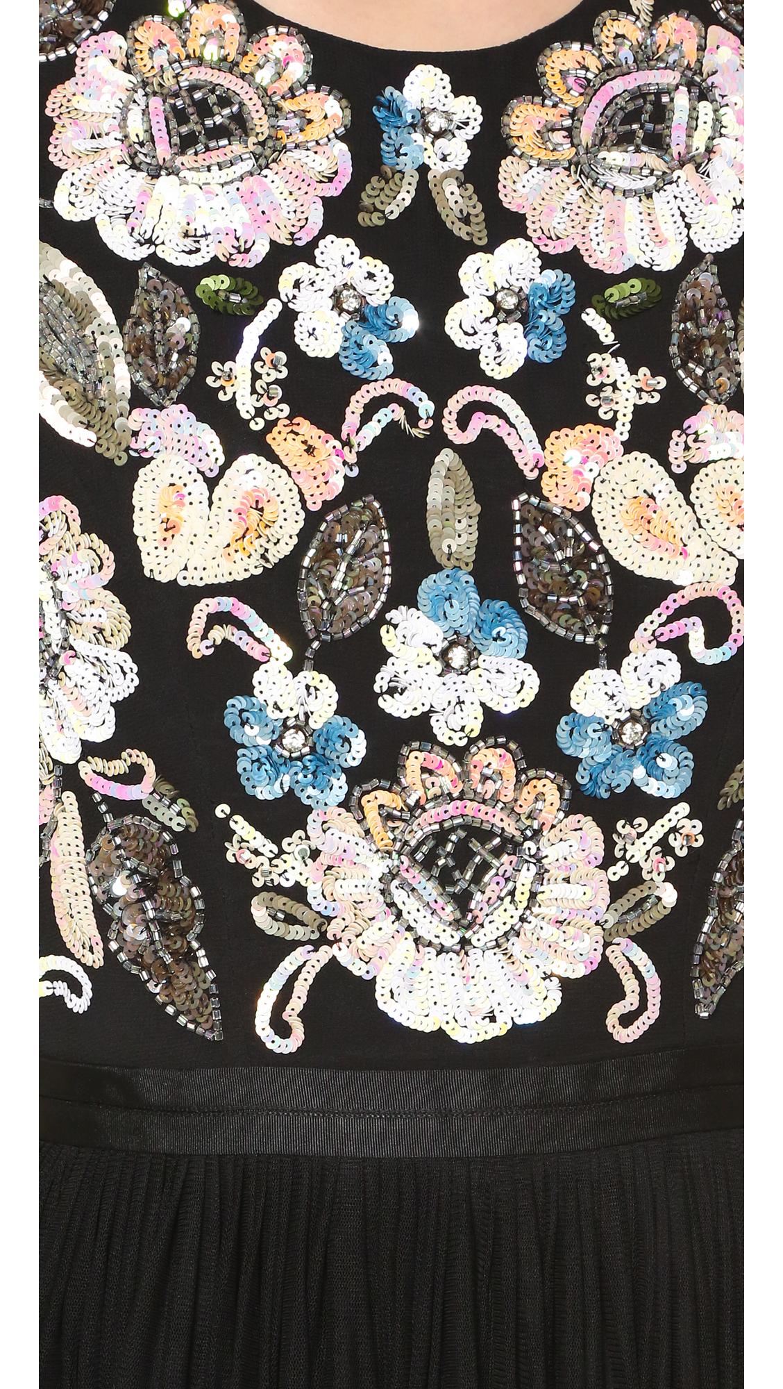 needle u0026 thread oriental garden midi dress shopbop