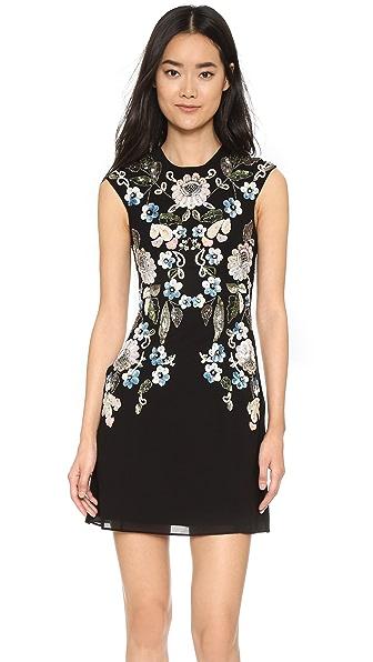 Needle & Thread Oriental Garden Dress - Black