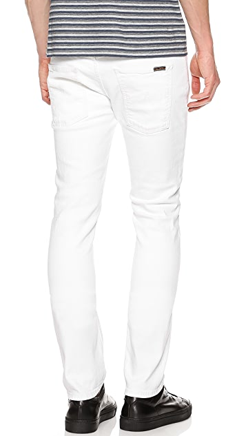 Nudie Jeans Co. Thin Finn Org White Jeans