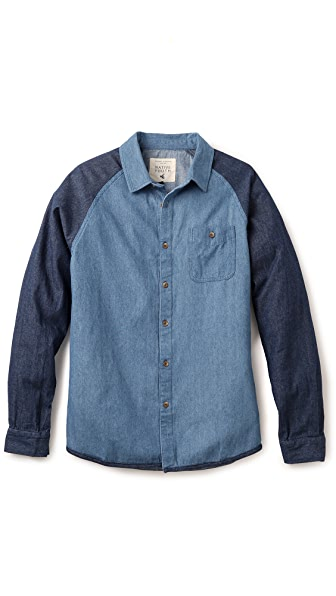Native Youth Denim Raglan Shirt
