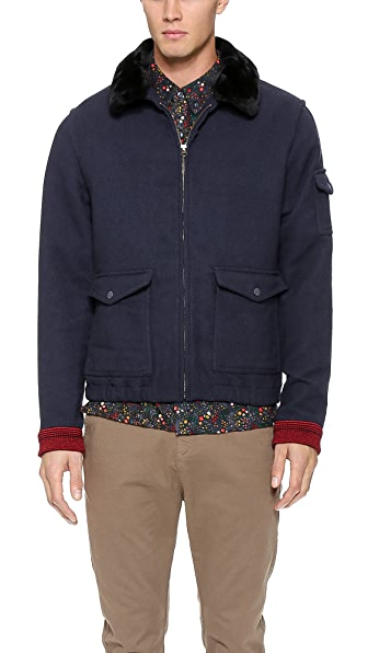 Native Youth Sherpa Collar Flight Jacket | EAST DANE