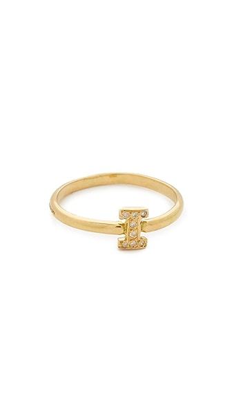 Natasha Zinko Diamond I Letter Ring