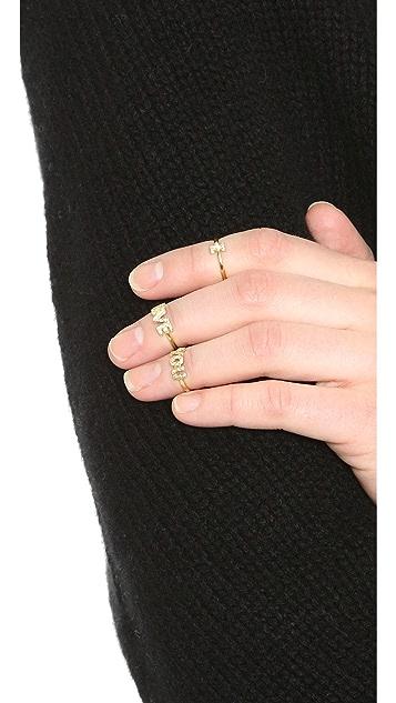 Natasha Zinko 18k Gold 'You' Diamond Ring
