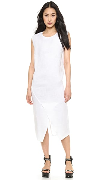 Oak Long Split Front Dress