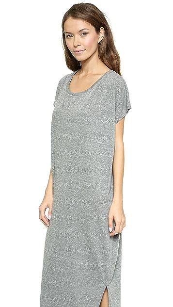 Oak Side Pleat Maxi Dress