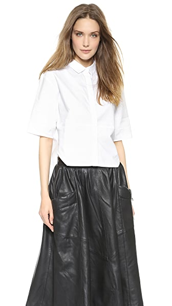 Oak Cropped Panel Shirt