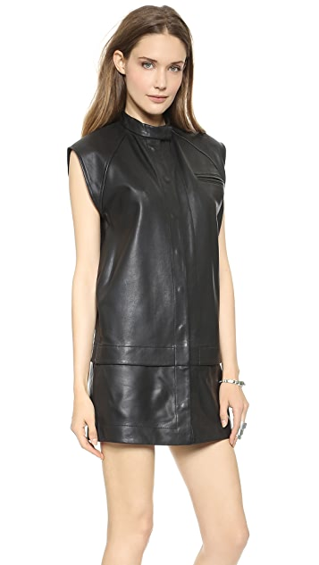 Oak Leather Double Hem Dress