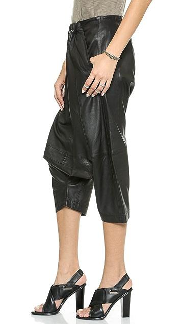 Oak Leather Square Gusset Shorts