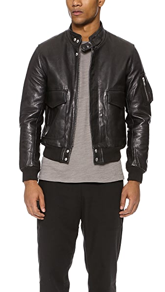 Oak Flier Leather Jacket