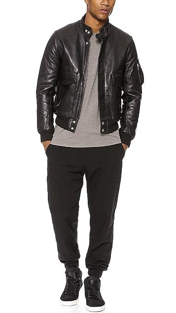 Oak Flier Leather Jacket
