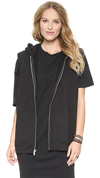 Oak Oversized Hooded Vest