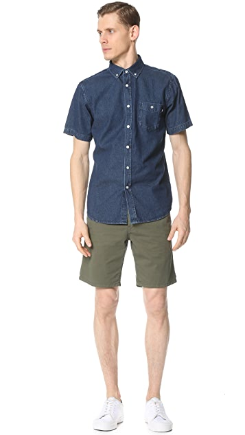 Obey Keble Short Sleeve Shirt