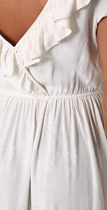 Odylyne Frilled Hummingbird Long Dress