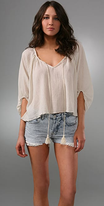 Of Two Minds Gauze Long Sleeve Top