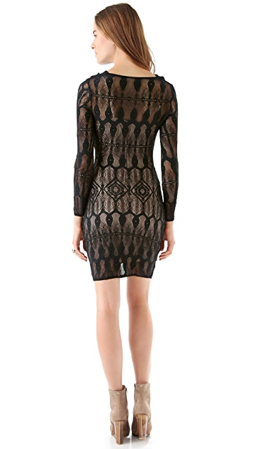 Of Two Minds Delia Crochet Lace Dress