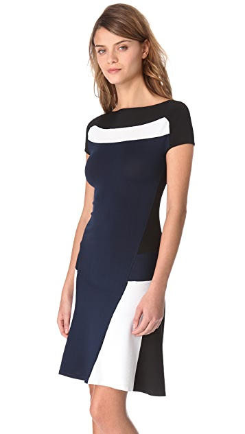 Ohne Titel Blocked Cap Sleeve Dress