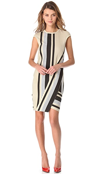 Ohne Titel Stripe Jersey Wrap Dress