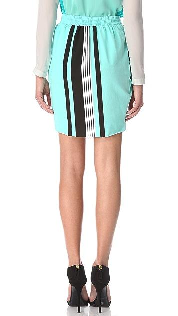 Ohne Titel Stripe Jersey Wrap Skirt