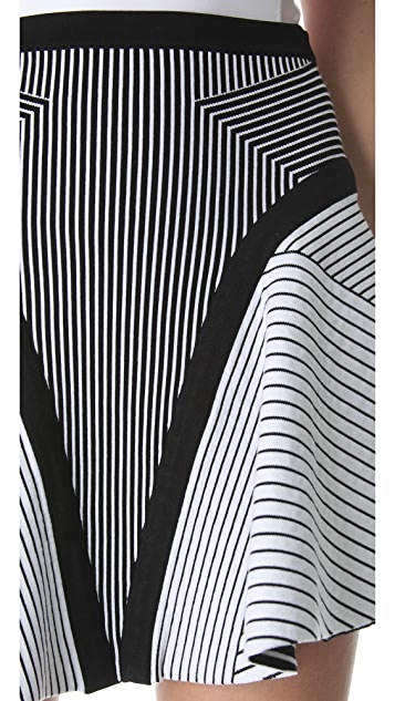 Ohne Titel Banded Maze Skirt