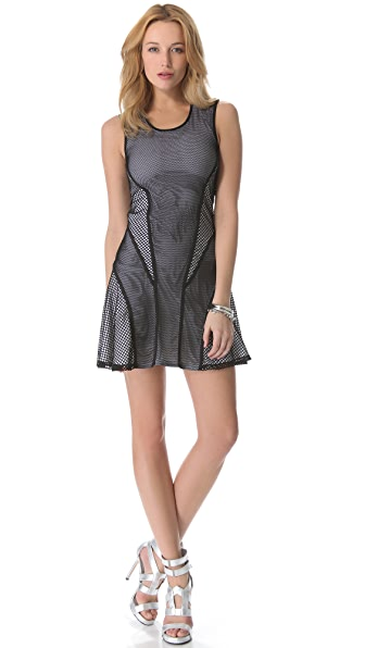 Ohne Titel Mesh Netting Flounce Dress